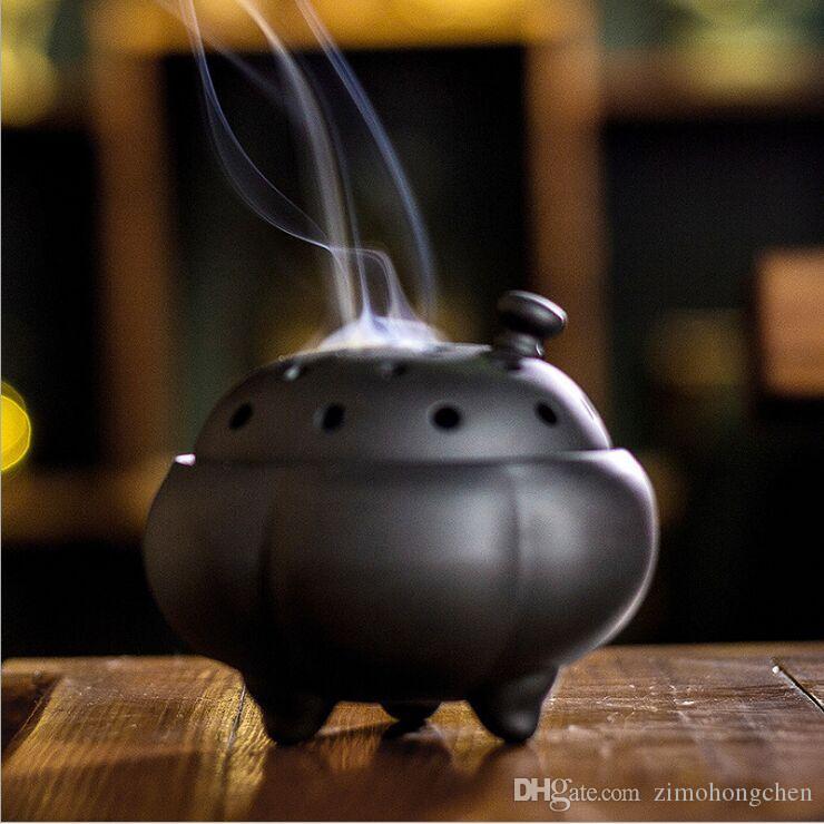 السيراميك مبخرة العتيقة البوذية أواني الطقوس تدفق الظهر حفل الشاي البخور البخور نعمة الثقافة الصينية القديمة