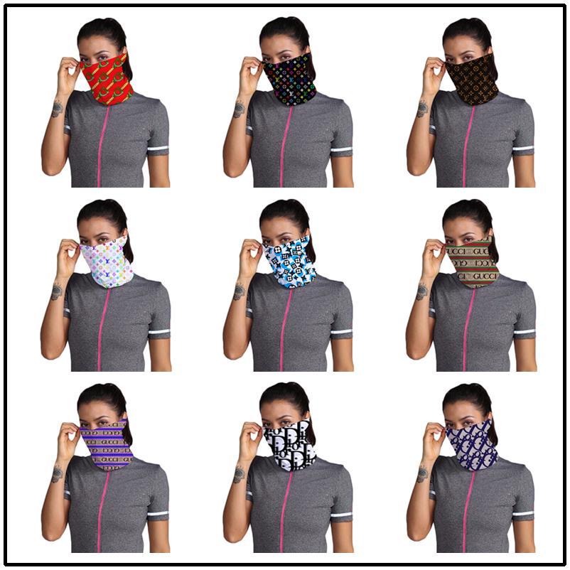 Máscaras de diseño de lujo Mini impresión Máscara mujeres bicicleta de ciclo Variedad Moda diadema turbante velo de múltiples Cap cabeza de la cara del cráneo del color Pañuelos 9