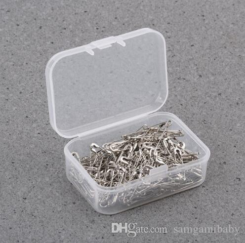 100pcs / set 19mm 실버 도금 된 금속 안전 핀 의류 태그, 태그 안전 핀