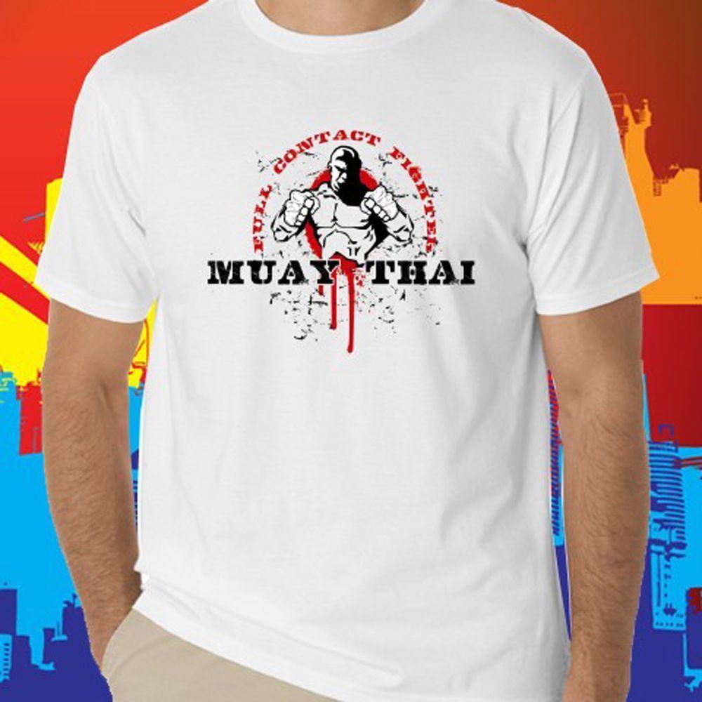 Martial Arts Muay Thai Kick Boxing men/'s short sleeve T-Shirt