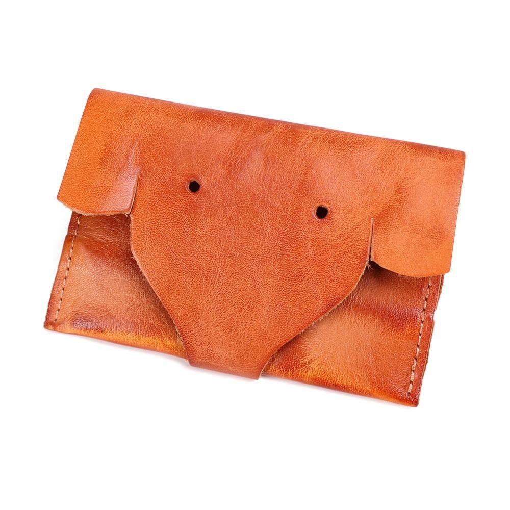 WIINSUN echtes Leder-Geldbörsen Unisex-Mini-Portemonnaie Handgemachte Wallet Haspe Münze Short-Mappen-Kredit ID-Kartenhalter 2019 Neu