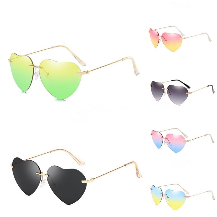 New Heart-Shaped Sunglasee Homens Moda homens de bicicleta Sunglass Sports Óculos de condução Heart-Shaped Sunglasee Ciclismo 9colors boa qualidade # 902