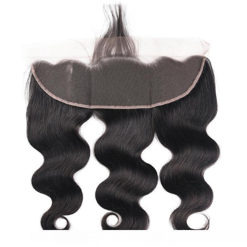M 8a Mink brasileira virgem do cabelo da onda do corpo em linha reta solta Ondas onda profunda Kinky Curly 3 pacotes com 13x4 orelha a orelha Lace frontal Encerramento