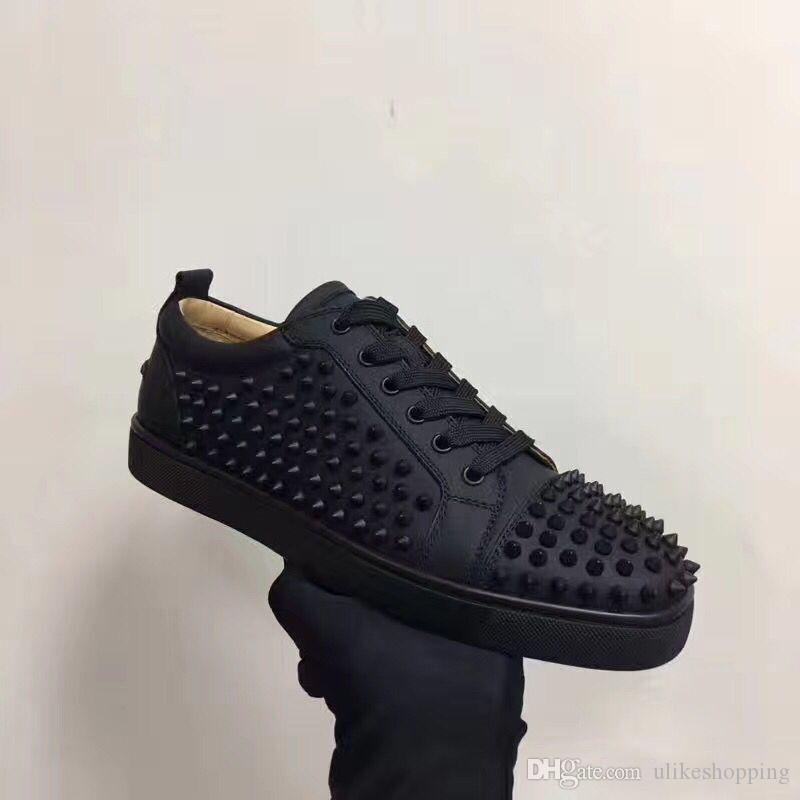 Top Spikes Red Bottom Sneakers Shoes