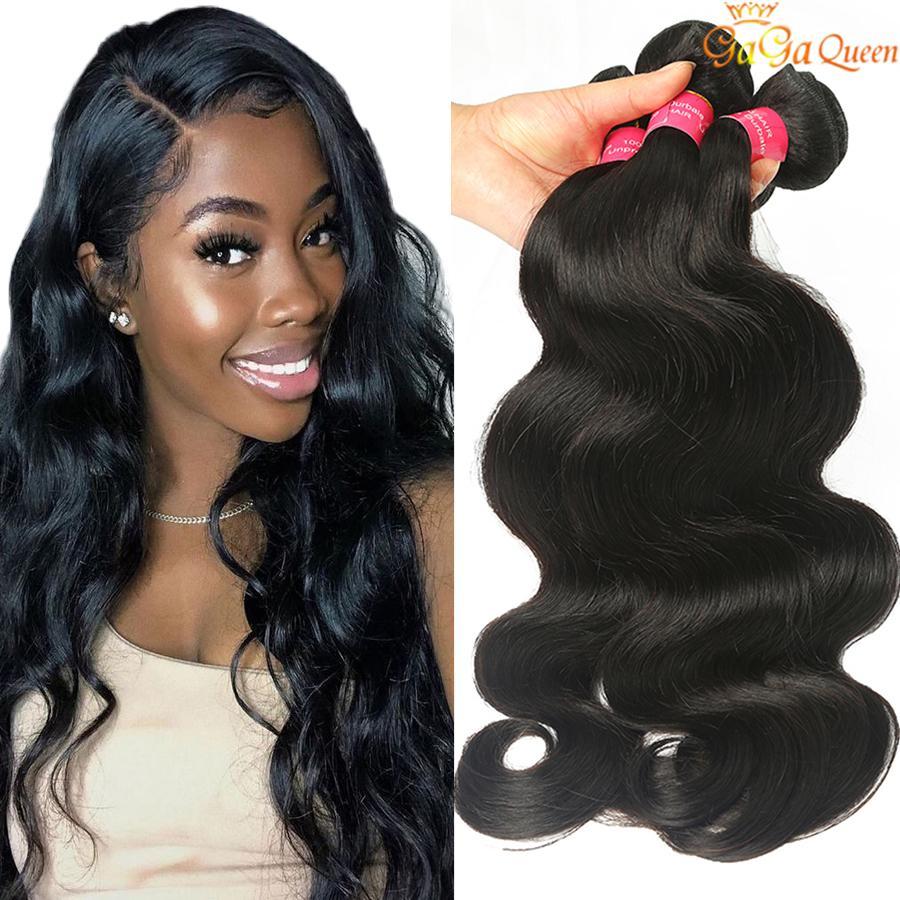 8A Virgin brasileira Cabelo da onda do corpo extensões do cabelo 4 Pacotes 100% Humano Weave do cabelo 100g / Bundle 8-28 polegadas Cor Natural preço de fábrica