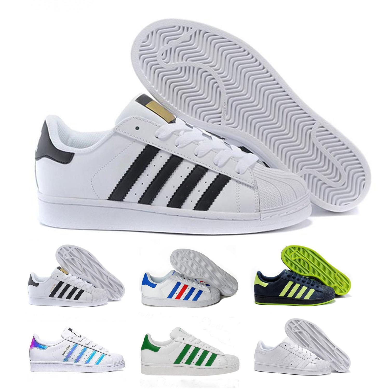 Adidas Clover Superstar 2020 Klassische Männer und Frauen Paar Outdoor-Sport-Freizeitschuh, bequeme Leder weißen Schuhe Größe 36-46