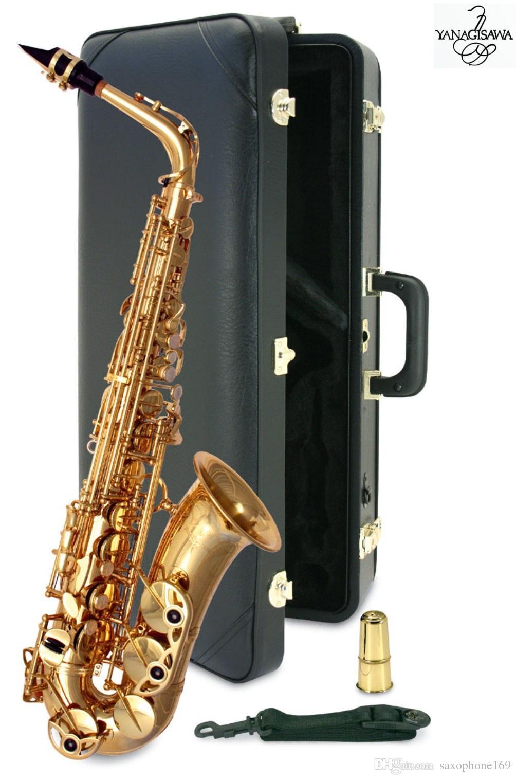 Nuevo YANAGISAWA A-992 Saxofón alto Saxofón de laca de oro Instrumentos musicales profesionales con boquilla, estuche
