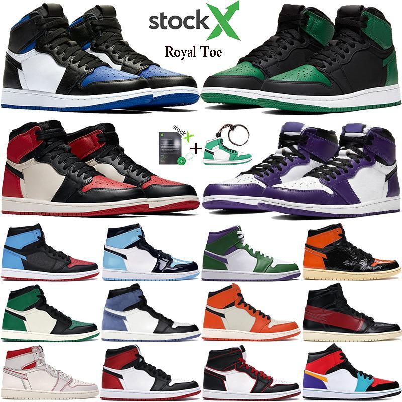 2021 jumpman 1s Erkek 1 OG Üst Erkekler Basketbol Ayakkabı OG Sneakers AAA Kalite Mandalina ördek Eğitmenler Mens Spor Sneakers Ayakkabı Boyutu 7-13