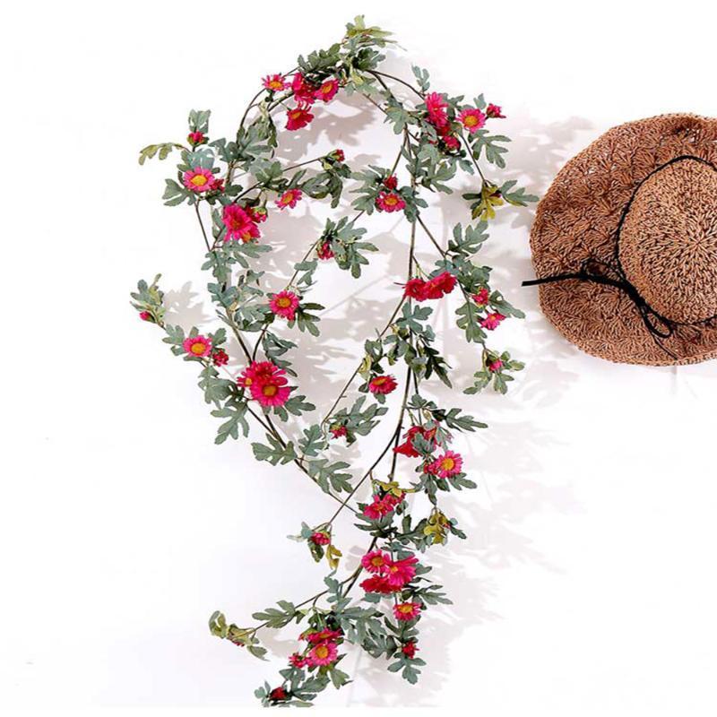 Artificial Garland Silk Flower Garland Verdura Vines Wedding Decoração Arch suspensão da flor decoração para a casa quarto
