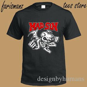 New Mad Sin Menobilly Punk Rock Band Hommes T-shirt noir taille S à 3XL