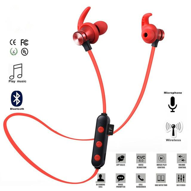 XT-22 Bluetooth Wireless Headphones 5.0 Support TF Card Sport Headset Handsfree Stereo Earphone with Mic for Smart Mobile Phone