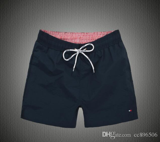 Mens Marke Board Shorts Stickerei Rücken Pocket wird Summer Beach Wear für Männer Bunte Quick Dry Badeshorts