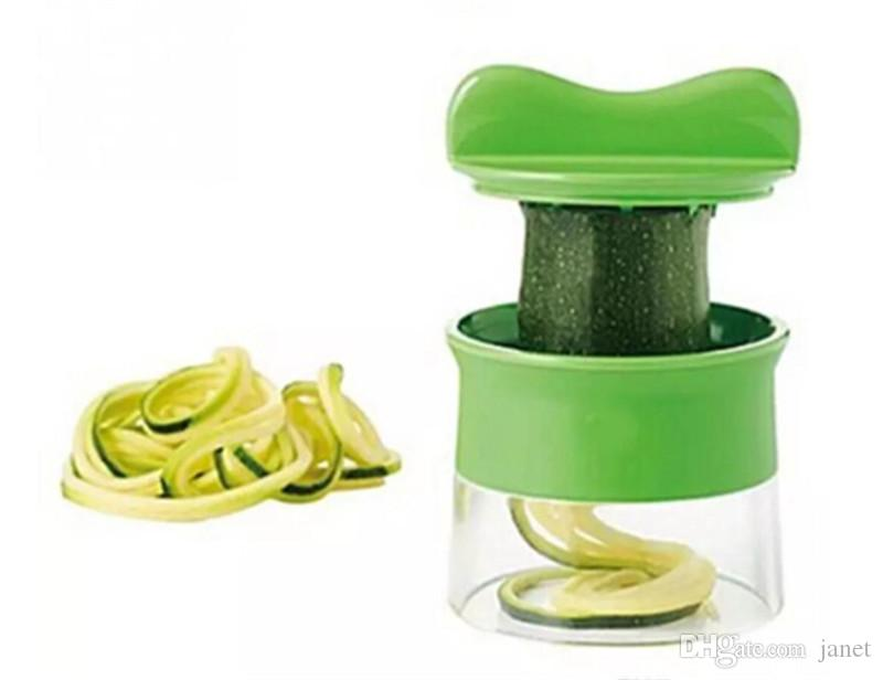 New Handheld Vegetable Spiralizer Spiral Kitchen Gadgets Vegetable Slicer Shredders Peeler Cutter Carrot Grater Kitchen Accessorie