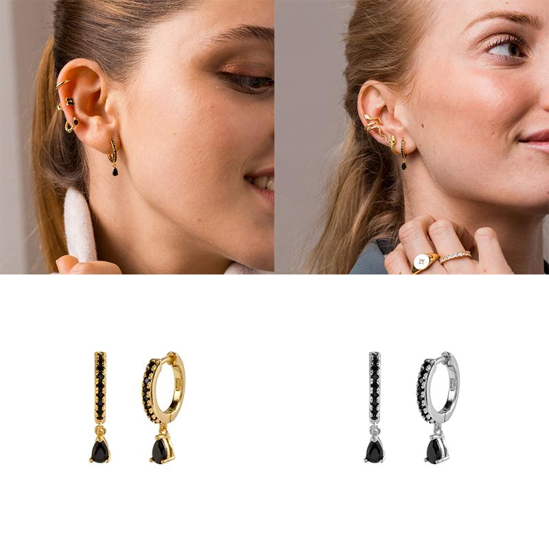 100% Genuine 925 Sterling Silver Earrings Geometric Round ladies Earrings Suitable For Parties and Gatherings