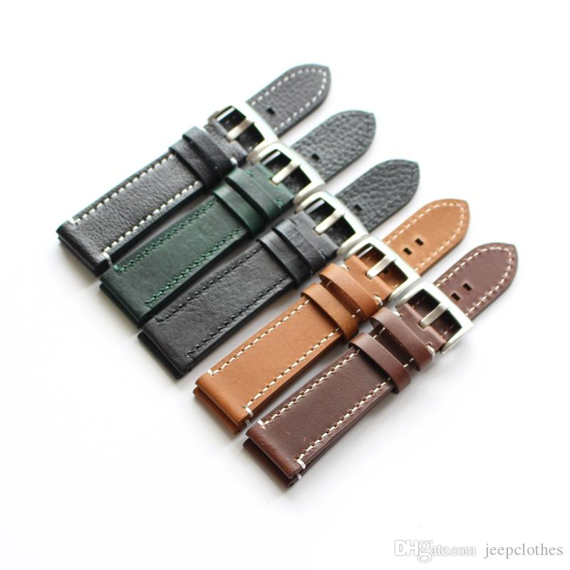 HIGH QUALITY HAND MADE LINES VINTAGE GENUINE COW LEATHER STRAP BAND FOR watch bracelet STRAP change repair fix accessory watchmaker