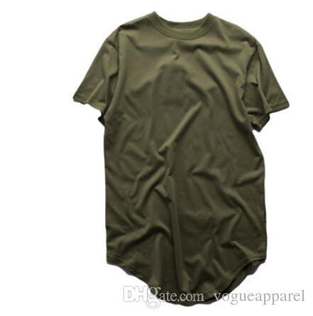 Mens Summer Tshirts Extended T shirt Longline Hip Hop Tee Shirts Swag Clothes Harajuku Rock Tops Homme Short Sleeved