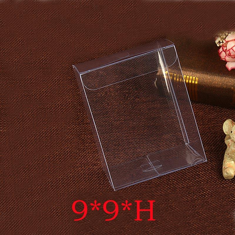 50pcs 9x9xH Plastic Box Storage PVC Box Clear Transparent Boxes For Gift Boxes Wedding/Tool/Food/Jewelry Packaging Display DIY
