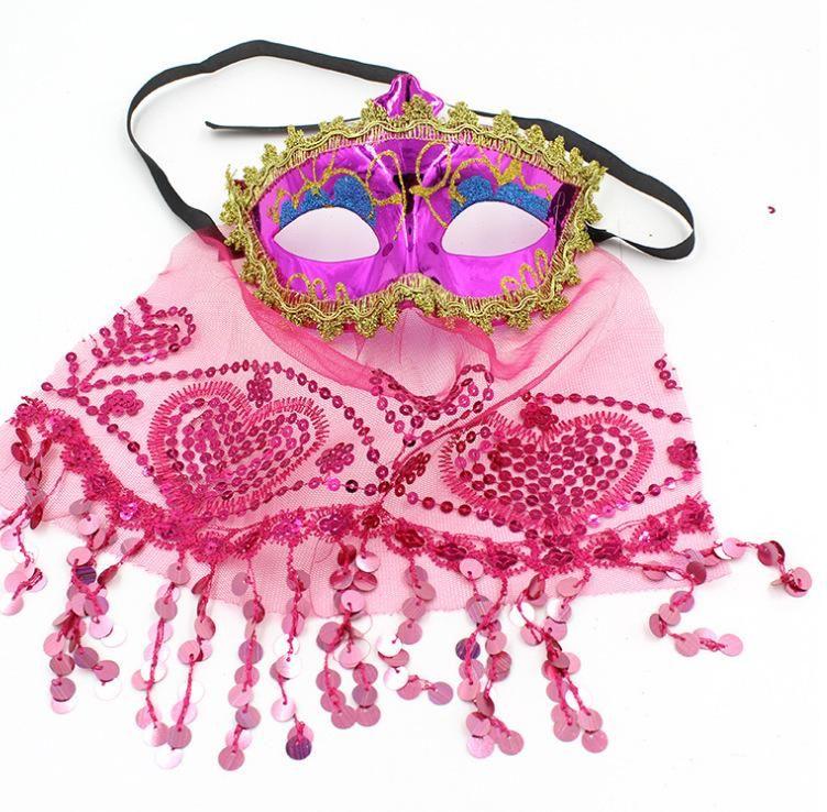 Velo de la máscara de la mascarada de Venecia máscaras de la danza del vientre velo de novia de encaje velo Carnival Dance Party Máscara nueva GGA2821