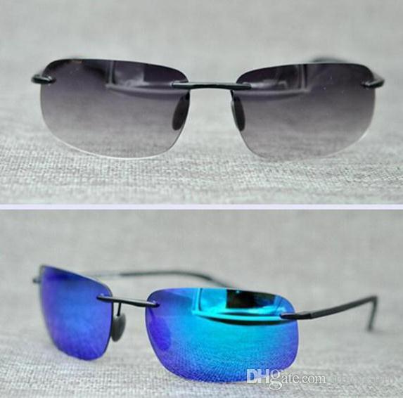 Brand Designer Mcy Jim 724 sunglasses High Quality Polarized Rimless lens men women driving Sunglasses with case