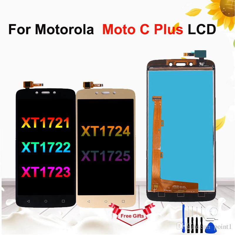 """5.0""""LCD For Motorola Moto C Plus XT1721 XT1722 XT1723 LCD Touch Screen Digitizer Assembly for Moto C Plus Display"""