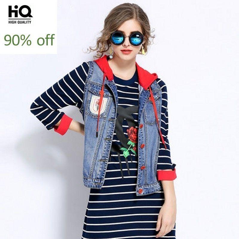 Plus Size Womens Vests 2020 Spring Autumn Fashion Woman Coat Short Sleeveless Embroidery Casual Waistcoat Hoodies Jacket Female