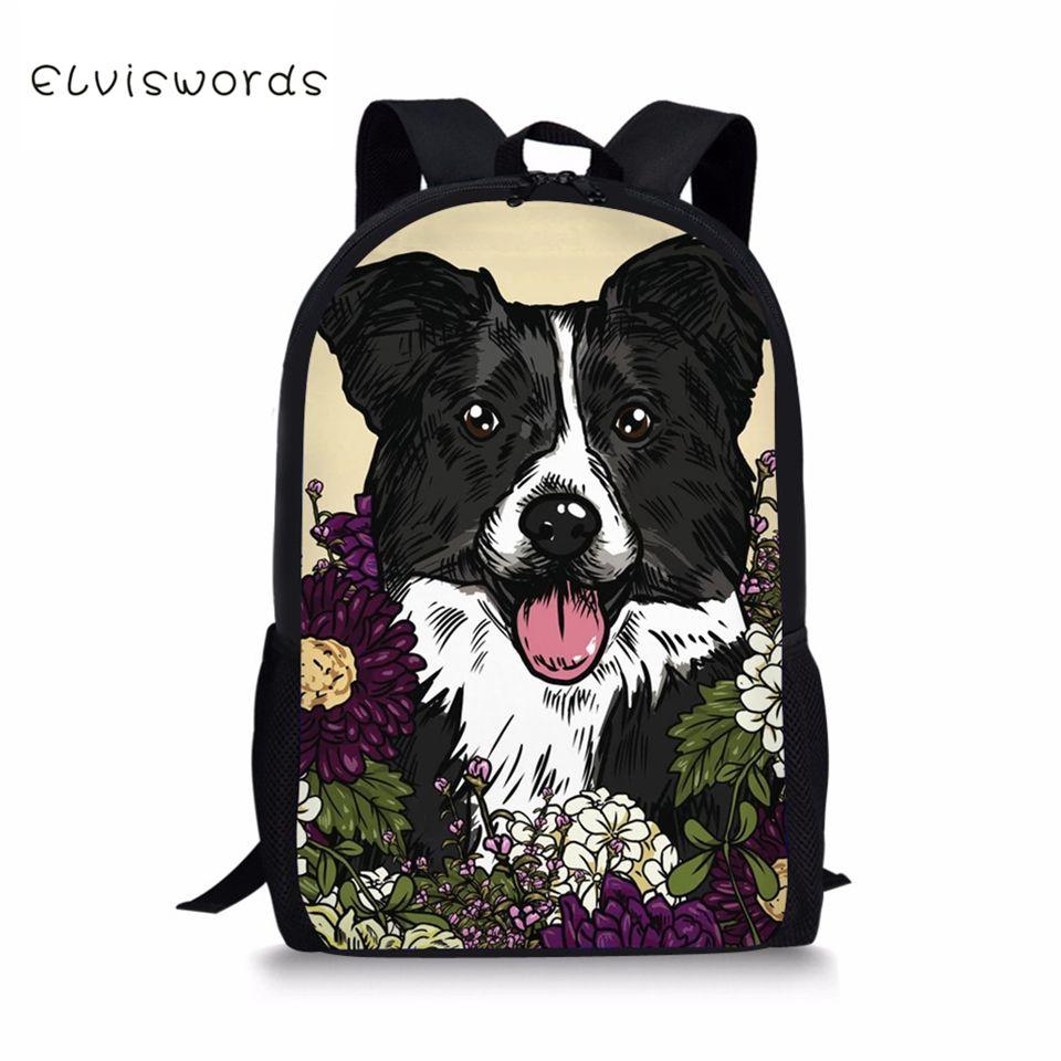 3D Animal Unisex Creative Dog School Bag Animal Pattern Trendy Backpacks