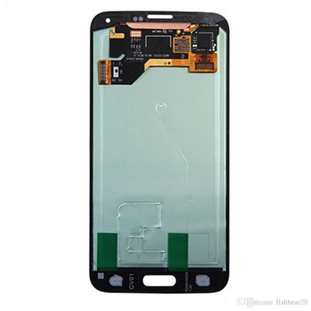 Para Samsung Galaxy S5 G900 AMOLED Pantalla LCD Pantalla LCD Paneles sin marco