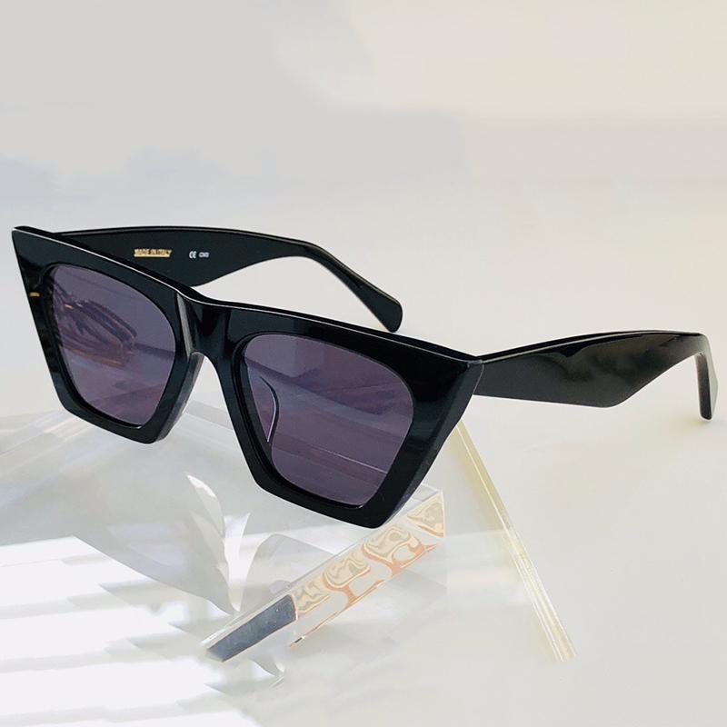 Weinlese-Marken-Sonnenbrille-Frauen quadratische Gläser Personalisierte Katzenaugen-Sonnenbrille UV400