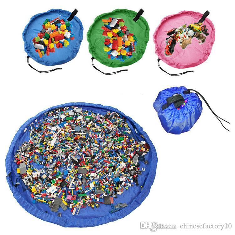 أطفال لعبة تخزين أكياس دمى المنظم قطرها 1.5 متر الطفل المحمولة تلعب حصيرة اللعب أكياس تخزين ماء فوضى تنظيف وسادة في الهواء الطلق