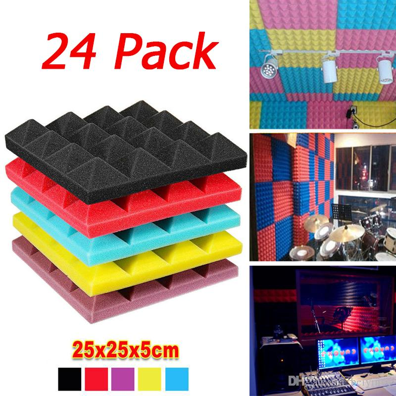 25x25X5CM Studio Acoustic Absorption Foam Sound Noise Insulation Panel Tile KTV