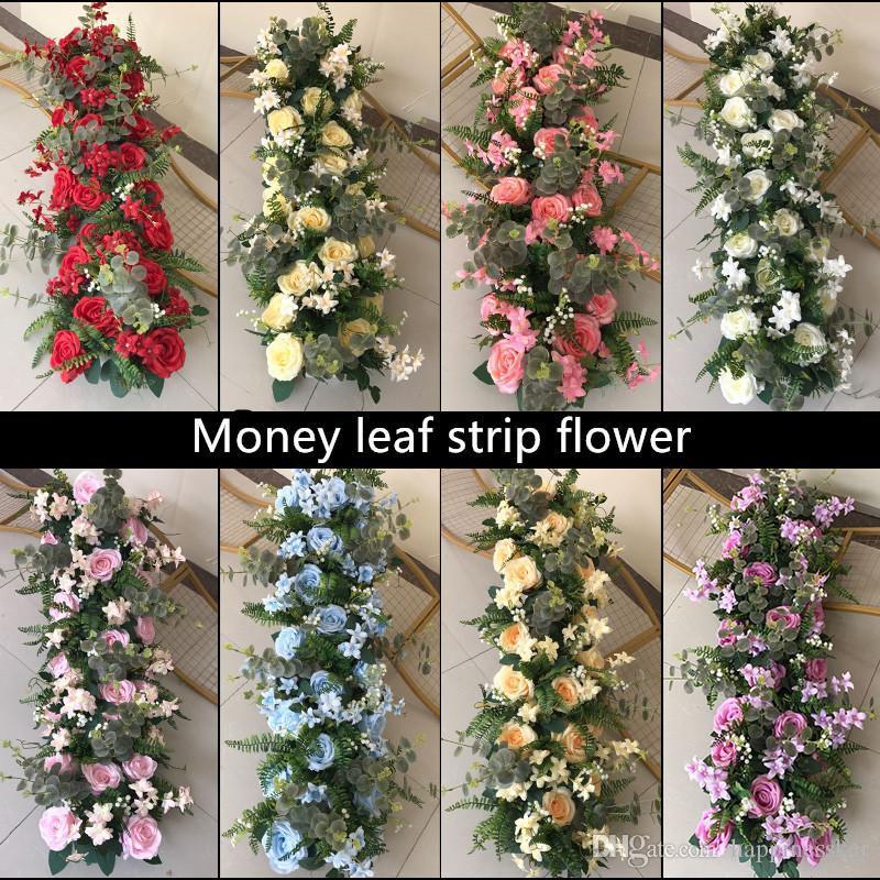 Wedding 100cm Flower Row Arch Arrangement Flower Stage Road Lead Flower Wedding Scene Layout Party Decoration Floral