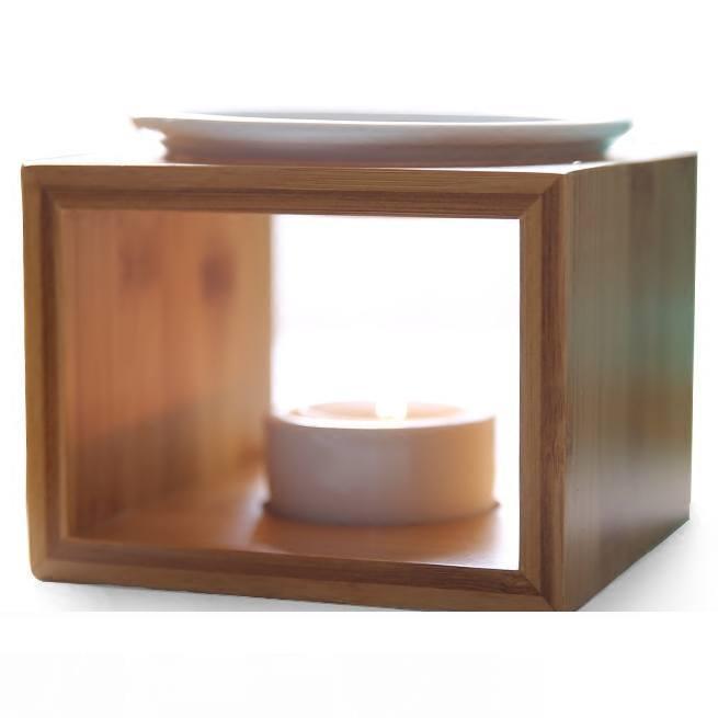 Sanat Tasarım Bambu Seramik Yağ Burner Yüksek Kalite Mum Aromaterapi Kandil Hediyeler Ve El Sanatları Ev Dekorasyonu Aroma Fırın