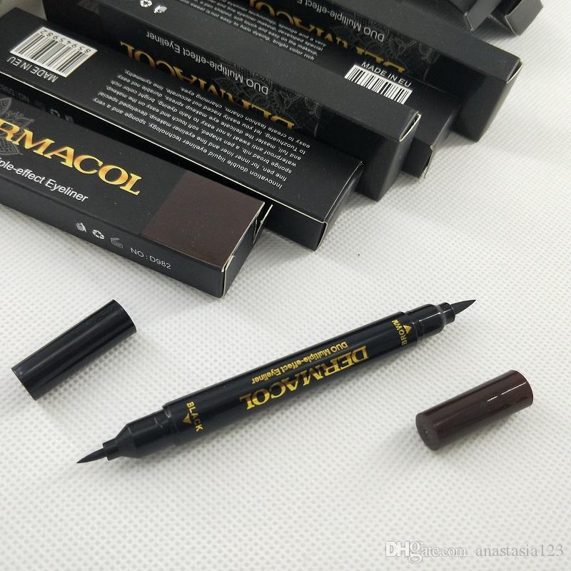 Maquillage عيون ماكياج العلامة التجارية الثنائي متعددة effecr كحل 2G + 2G / جهاز كمبيوتر شخصى الأسود / البني جعل ما يصل طويلة الأمد كحل الشحن المجاني
