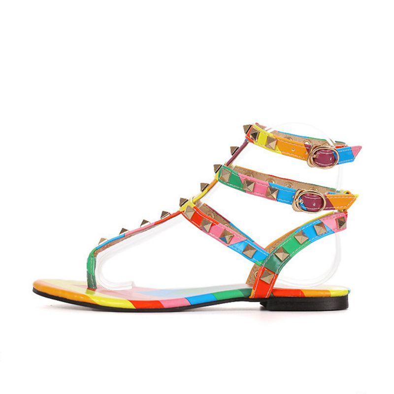 Size 34 45 Rainbow Color Gladiator
