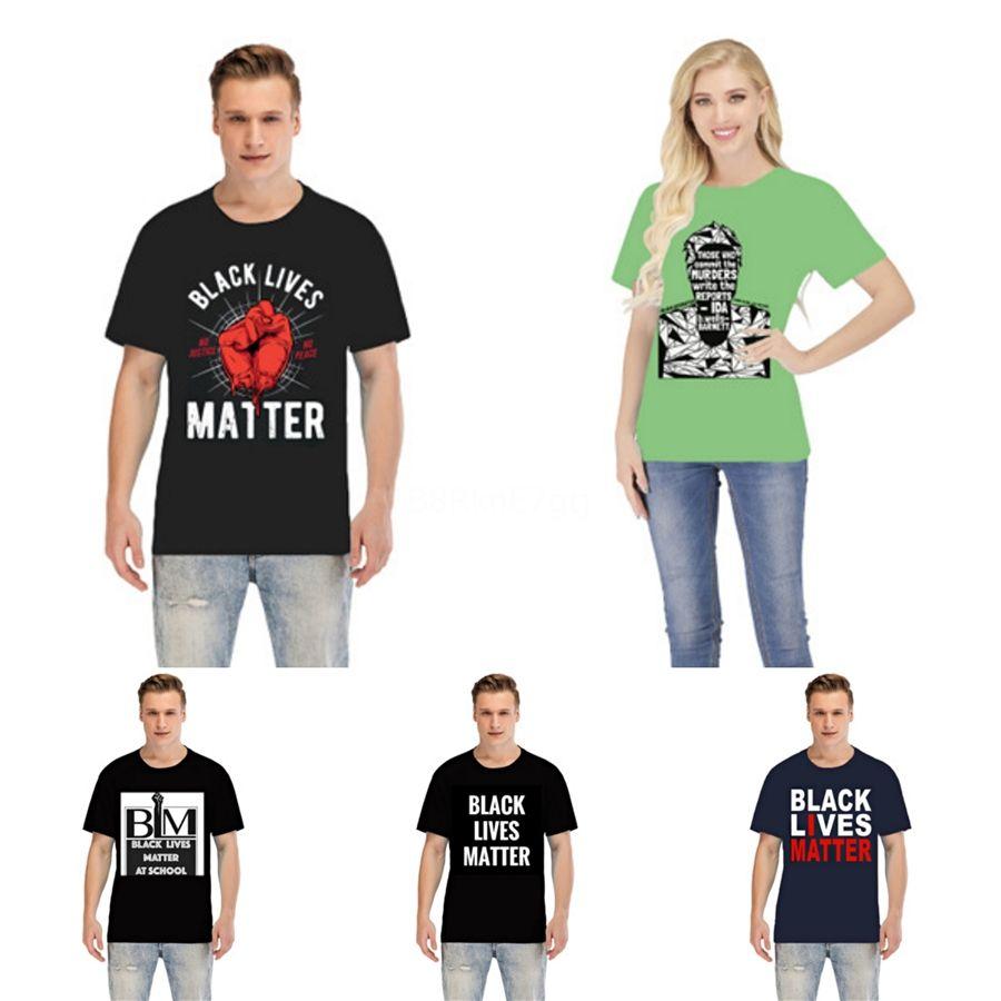 Black Lives Matter!Mens Designer Fashion Brand T Shirt Casual Mens Loose Tees D Letter Print Round Neck Short Sleeves Top Sell Luxury Men #42
