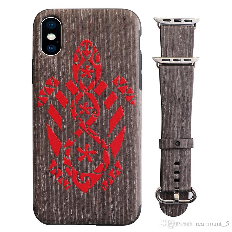 Neues design 2 in 1 mode benutzerdefinierte imd handy abdeckung und uhr band premium case für iphone xs max xr