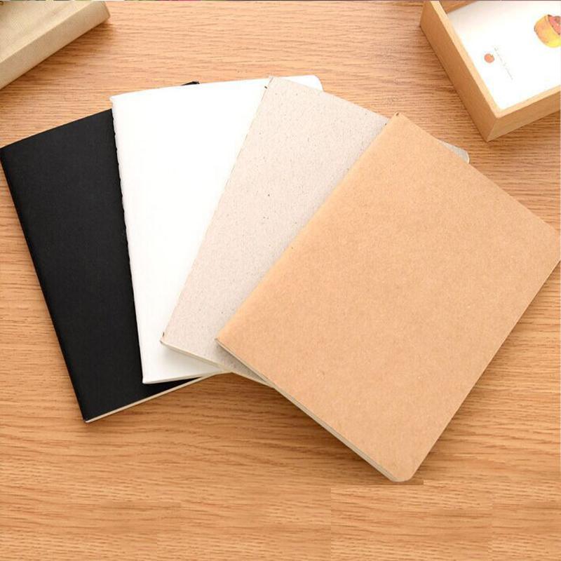 Blanco de la vendimia Papel Kraft cubierta suave de la mini del diario del cuaderno de bolsillo de la libreta regalo promocional Sketchbook papelería 10.4cm * 14cm