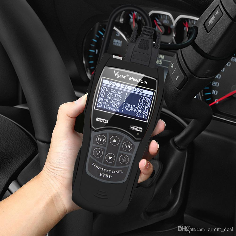 Promoção Preço vGATE VS890 V1.20 Multi-language Car Código BUS Leitor Auto Ferramenta de diagnóstico Scanner Apoio CARB KWP-2000 CAN J1850 VPW