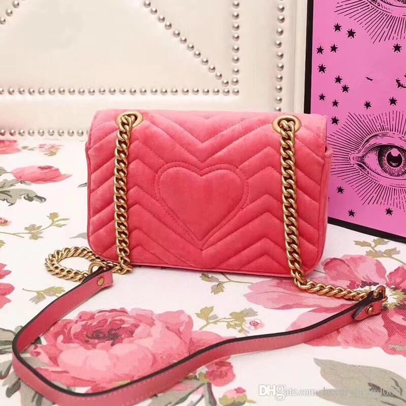 2019 Mode Beste Qualität Faux Wildleder Frauen Samt taschen Handtaschen Kleid Stil Luxus Schwarze Frauen Umhängetasche Marke Designer 446744 size22cm