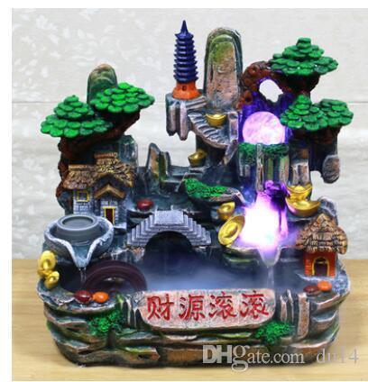 Hongru Dekoration Haus Fließendem Wasser Reichtum Ornamente Dekoration von Fengshui Luftbefeuchter Home Factory Direct Selling Farbige