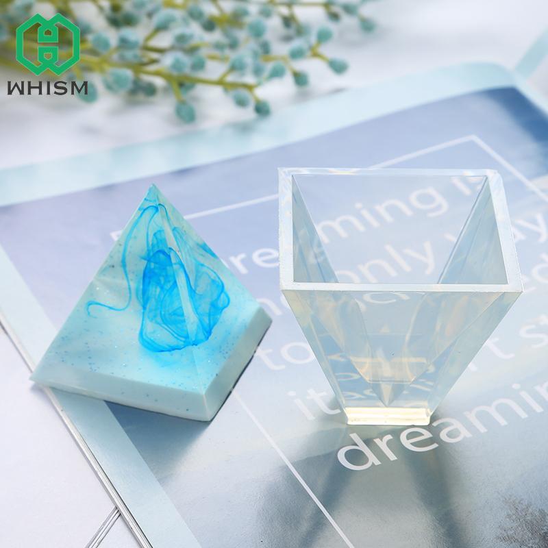 WHISM Pirâmide Silicone Mold bolo que decora Moldes DIY jóias pingente Fazendo Mold ornamento Artesanato Moldes resina epóxi
