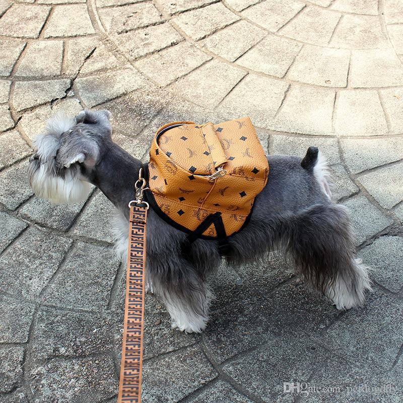 أزياء الحيوانات الأليفة الكلب حقائب عادية الشخصية مطبوعة القط الكلب حقيبة البسيطة تيدي بلدغ أفطس اكسسوارات في الهواء الطلق