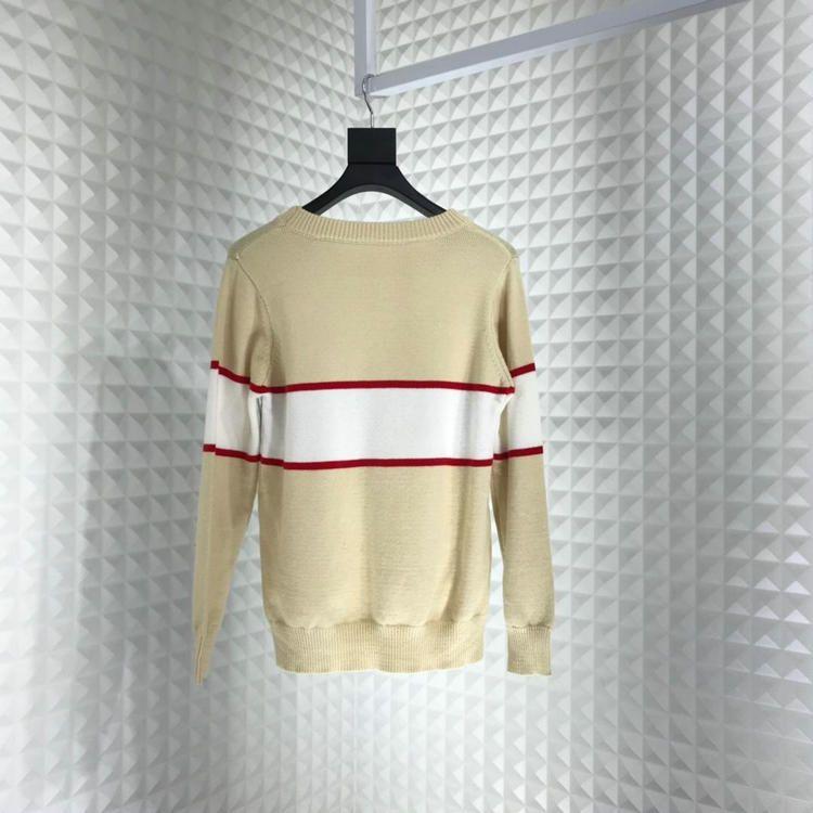 marchio di moda designer di abbigliamento mens Europa strisce di colore patchwork a testa lettera maglione di lana Ponticelli pullover felpa