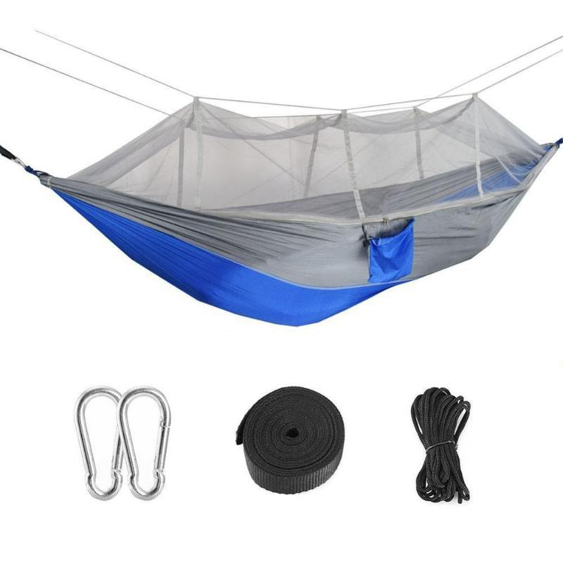 Camping//garden Hammock with Mosquito Net Outdoor 1-2 Person Hanging Bed Swing