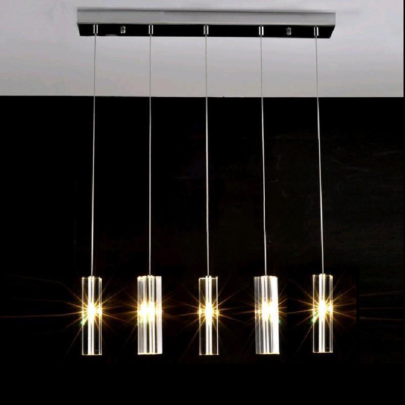Compre Modern Colgante Lámpara Minimalista Comedor Ilumina 5/8 Lámpara De  Techo De Cristal Creativo Cabeza De La Barra De La Lámpara Lámparas Comedor  ...