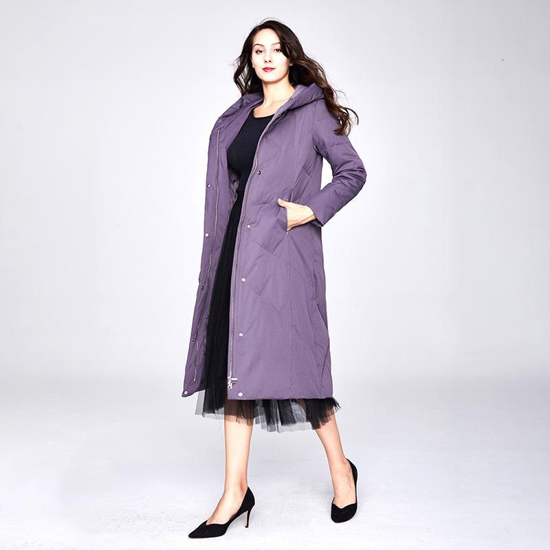 2019 зима женщина утки пуховик длинной сверхлегкая натуральное перо фуга роскошь высокого качества женщины утка вниз пальто # 99111 T191024