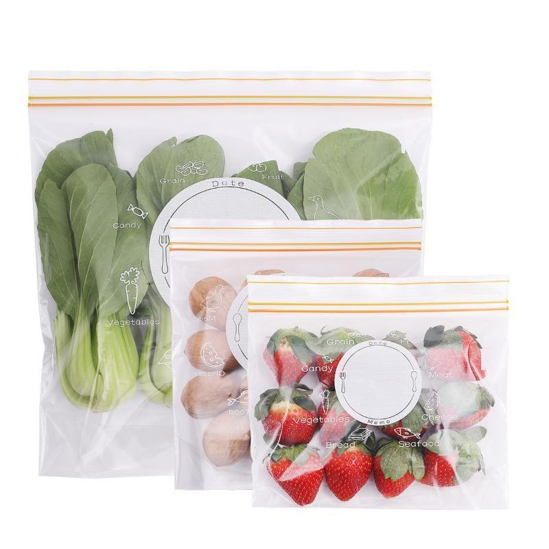 Самоуплотняющееся сумка для хранения Прозрачные овощи мешок Охрана окружающей среды Сохранение