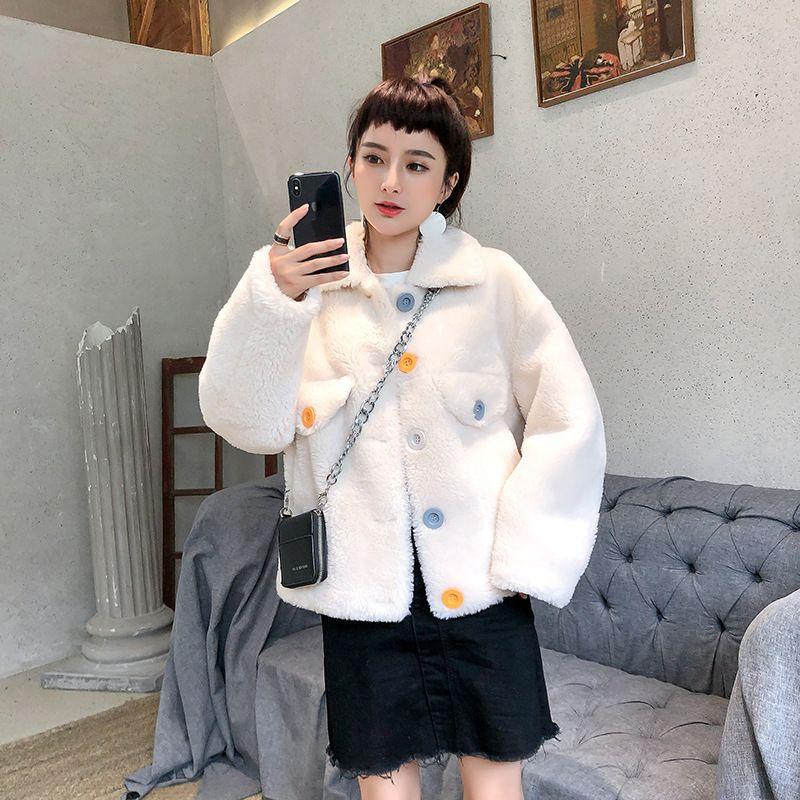 di lusso di alta qualità 2019 del granello di pecora cappotto tosatura composto femminile cappotto di pelliccia un inverno breve