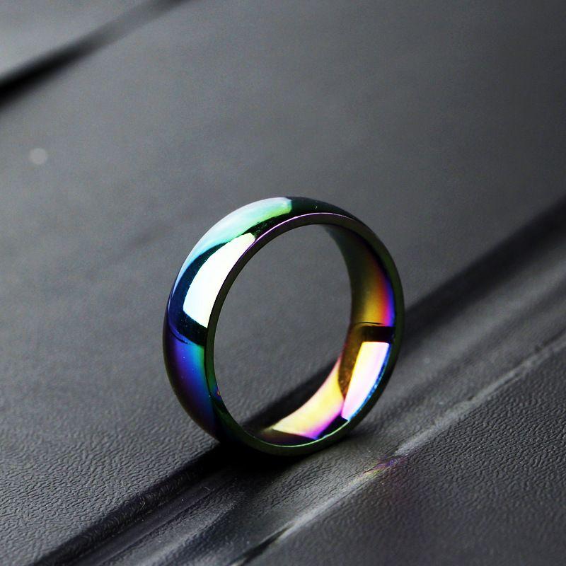 Anelli della coppia della coppia dell anello della coppia dell anello dell'account dell'acciaio inossidabile dell anello dell'acciaio inossidabile dell'arcobaleno degli uomini