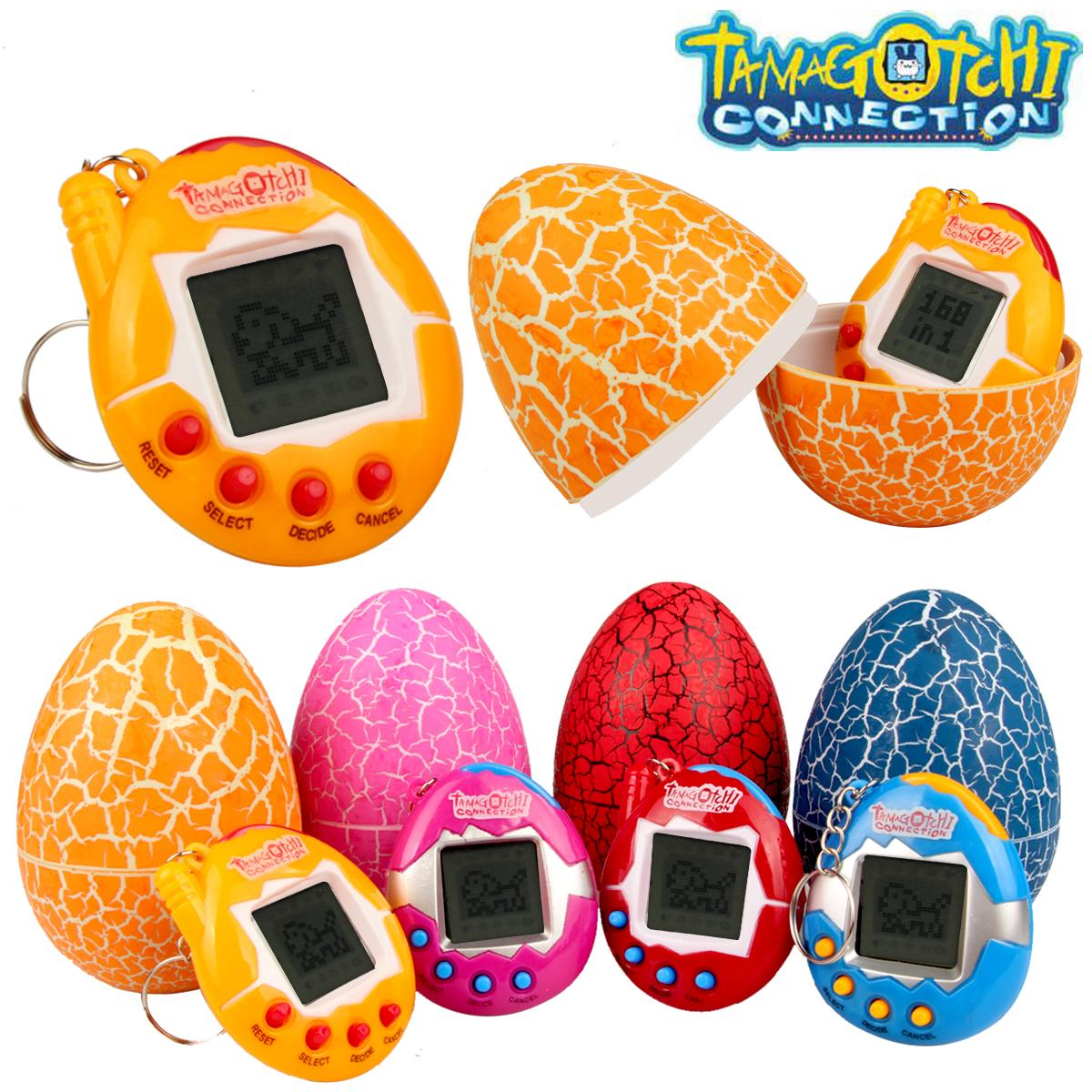 Tamagotchi Connection Dinosaur Surprise Egg electrónicas virtuais cibernéticos Pet Kids Brinquedos Presente